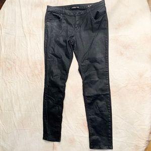 ZARA - Slim Fit Faux Leather Jeans